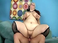 Horny pornstar Buxom Bella in wild cumshots, stockings adult clip