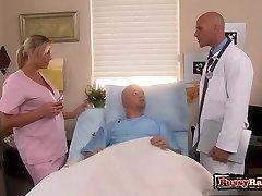 Big tits nurse orgy and cumshot