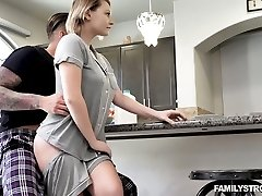 Fabulous busty cowgirl Cara May is drilled doggy darn great in the morning