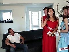 Quite buxomy Latina hottie Melissa Moore swaps her partner for swinger fuck