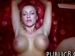 Big fake tits first-timer gets paid for sex and nutted on