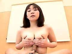 Titty fucking the pink cigar with her Asian mouth