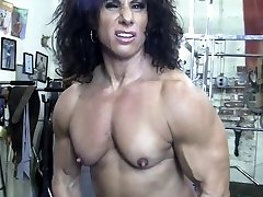 Nude Female Bodybuilder Kiss My Naked Muscles