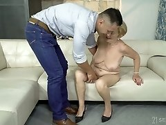 Having undressed mature whore Malya unveils big ass and gets fucked doggy