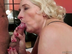 Lusty granny with immense saggy tits Sila  banged well by her buddy