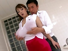 Crazy Japanese chick Hitomi Tanaka in Best JAV censored Bathroom, Monstrous Tits movie
