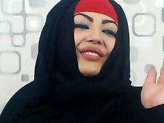 Muslim honey showing off the goods