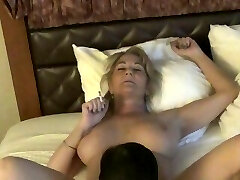 Yam-sized Tits Smoking Mature GiGiJuggs MILF pussy being licked cigarette