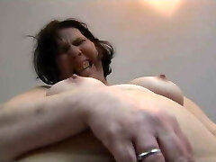 Grannie Rips Her Pantyhose
