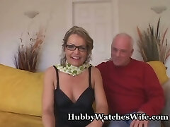 Old Man Offers Wifey To Young Stud
