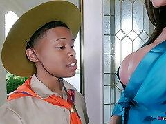 Ariella Ferrera takes Young Guy on his Safari Fantasy