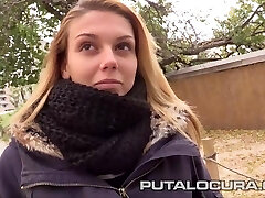 PUTA LOCURA Picking Up a busty Spanish Teen
