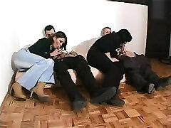 Foursome sex with aged and smallish partners