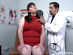Slutty Brunette Plumper Had Casual Sex With Her Handsome Doctor, After Giving Him A Blowjob And A Boobjob