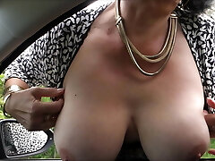horny granny with ginormous tits on the road