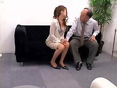 Titless Japanese screwed doggystyle in voyeur sex video