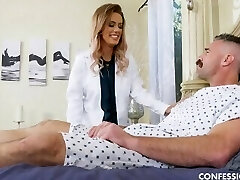 Inked Nurse With Big Bra-stuffers Is Horny And Wants To Fuck Her Patient