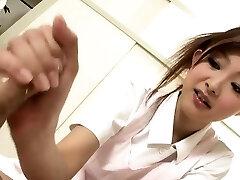 Sucky sucky sesh with a Japanese nurse