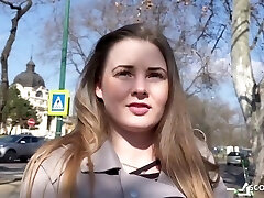 Curvaceous Natural College Girl Lucie Talk To Fuck At Real Pickup Street Casting