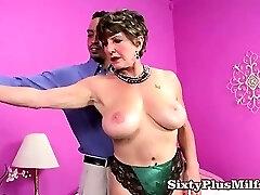 Scorching big tit granny pornstar