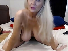 Awesome granny with great big bosoms and ass fucking
