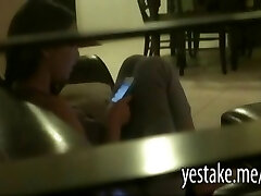 Buxom brown-haired masturbate while spied on by a friend of hers