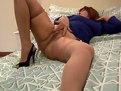 Busty Mature Mrs Robinson In Stockings And Tight Dress Teases