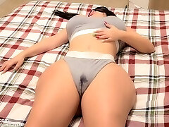 Stepbros hard trunk wakes up horny Teen Stepsister after witnessing her WET pussy