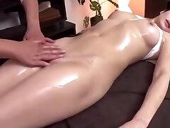 Hot Japanese Girl Gets Finger-tickled during Message
