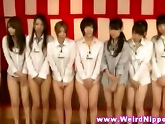 JAPANESE BABES LINEUP Without PANTIES ON