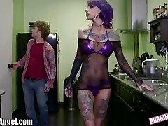 BurningAngel Emo Stripper gets Puss Pounding