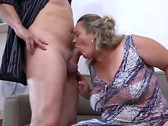Big titty granny with bf