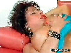 Gorgeous mega breasted mature slut gets part4