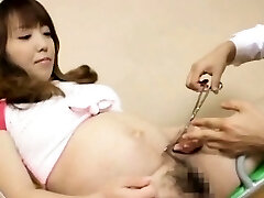 Unshaved pregnant asian with big nipples