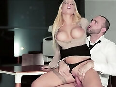 Kyra Hot gets a wild plow at the office