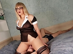 Teacher makes Student pussy licking for a Good College marks