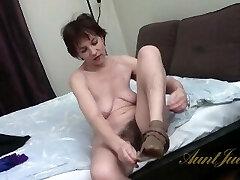 AuntJudys .. 49yo Saggy Tit Amateur Sofia in Tights (AJ Classics)