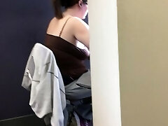 20yr old bare-chested chubby in the library
