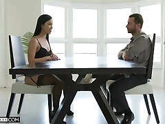 Kinky hotty in black tights Diana Grace is fucked missionary rough