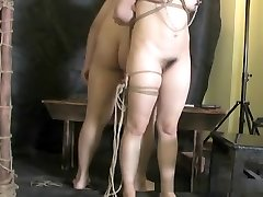 Cruel Asian suspension bondage and torture