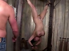 horny big titted asian milf gets tied, punished and dp