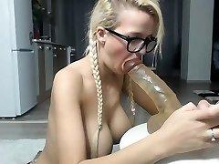 girl texas platinum-blonde flashing orbs on live webcam