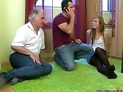 Granfather fuck her glorious nephew girl in pantyhose