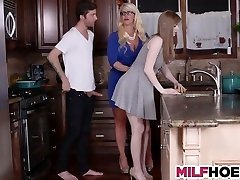 Stepdaughters Boyfriend Gets Seduced By Mother