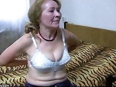 OldNanny granny de-robe and toyfuck compilation
