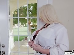 Uber-cute looking black friend gets lured by huge-chested MILF Alura TNT Jenson and sucked