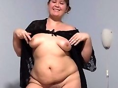 young cute plump with fur covered by a pussy, fucking with faux-cock.
