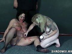 Lesbian slaves bizarre insertions and hardcore domination sex of amateur bb