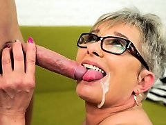 Grey haired grannie fucked
