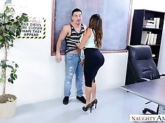 Voluptuous doll with sexy big booty Julianna Vega desires to work on pecker